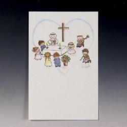 Estampa de comunión Vitraux Biblia