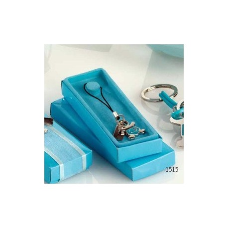 Bolígrafo turquesa con puntero táctil 4nap. cinta turquesa