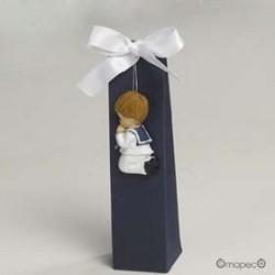 Tarta 23 cajitas niño comunión traje blanco