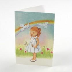 Invitación niña vestido lila