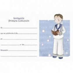 Invitación niño biblia palomas
