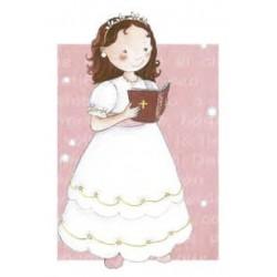 Punto de libro niña jardín rosa