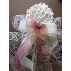Cojin bordado flor