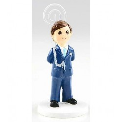 Portafoto niño almirante azul