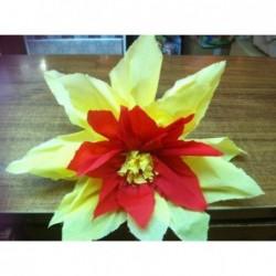 Flor en papel crepe