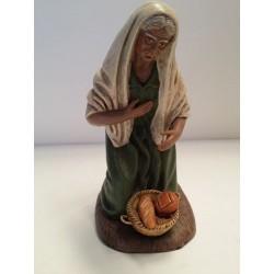 Pastora con cesta de pan