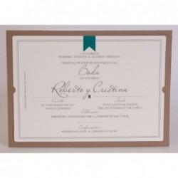 Invitación de boda Esencia...
