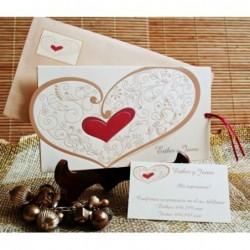Invitación sobre corazón