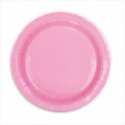 Plato en color rosa