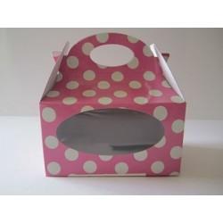 Caja chuches lunar rosa