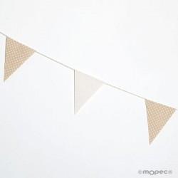 Guirnalda bandera topos beige