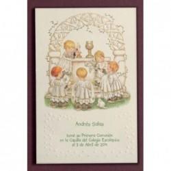 Estampa niños altar