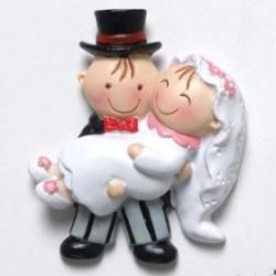 Imán novia en brazos Pit&Pita