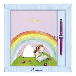 Diario niña arco iris