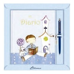 Diario niño jardín azul
