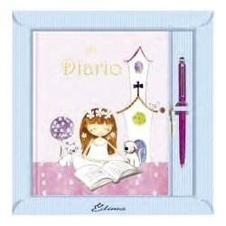 Diario niña jardín rosa