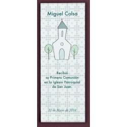Punto de libro iglesia verde