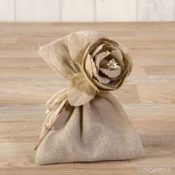 Flor de algodón beige con...