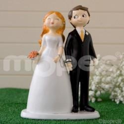 Figura pastel novios esposados
