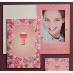 Portafoto cáliz rosa