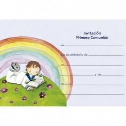 Invitación niño arco iris