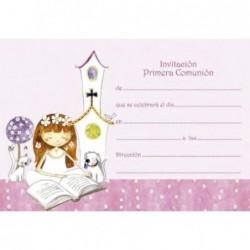 Invitación niña jardín rosa