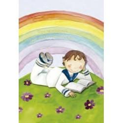 Portafoto niño arco iris
