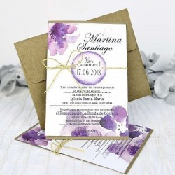 "invitación de boda ""Flores..."