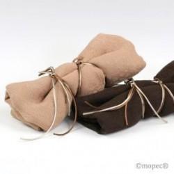 Foulards juego marrón/beige