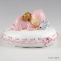 Figura pastel niña almohada