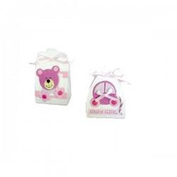 Set cajitas Baby Rosa