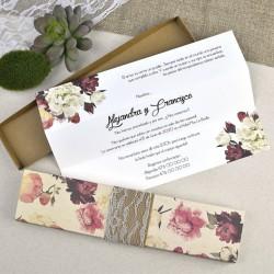 Invitación de boda floral...