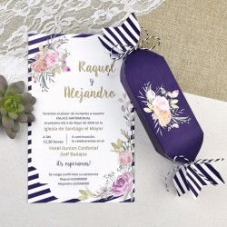 Invitación de boda caramelo...
