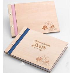 Libro de firmas de madera...