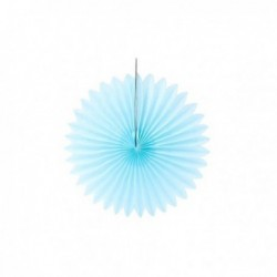 Abanico de papel azul