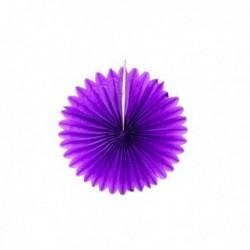 Abanico de papel lila