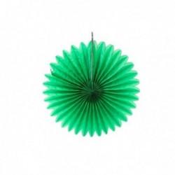 Abanico de papel verde