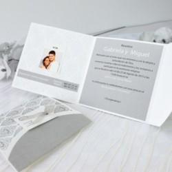 Invitación de boda camel