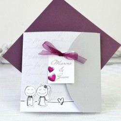 Invitación de boda infantil