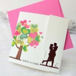 Invitación de boda árbol...