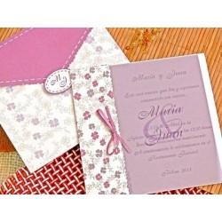 """Invitación de boda """"Morada"""""""