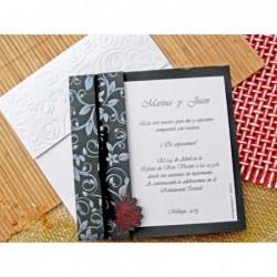 """Invitación de boda """"Flor"""""""
