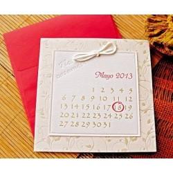 Invitación de boda Calendario
