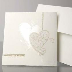 Invitación de boda 2 corazones
