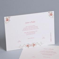 Invitación boda clasica