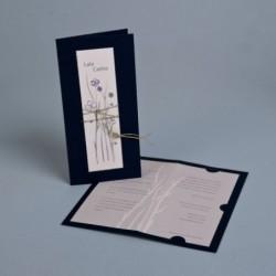 Invitación de boda zen azul