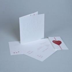 Invitación de boda RedHeart