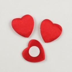 Corazón raso rojo con...