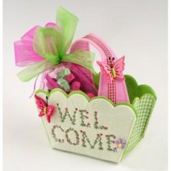 Cesto fieltro Welcome con...