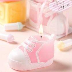 Vela patuco zapatilla rosa
